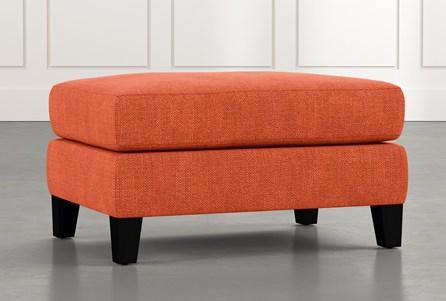 Landry II Orange Ottoman