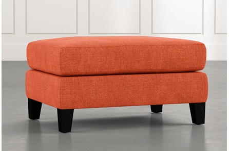 Landry II Orange Ottoman