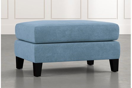 Landry II Light Blue Ottoman