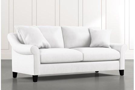Landry II White Sofa