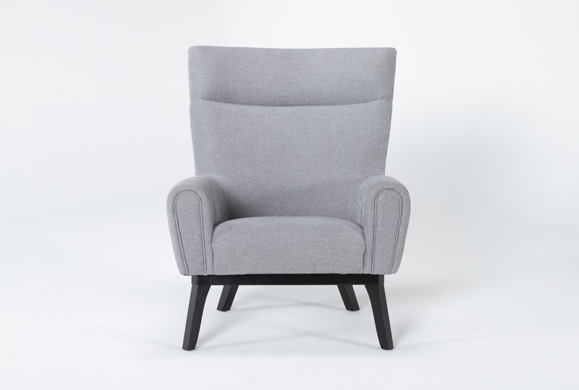 Lounge Grey Accent Chair Living Spaces