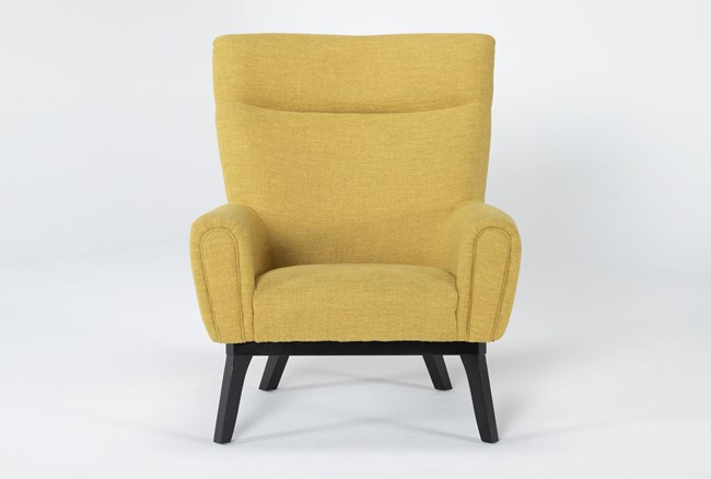 Lounge Yellow Accent Chair - 360