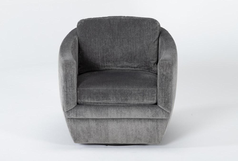 Chadwick Charcoal Swivel Accent Chair