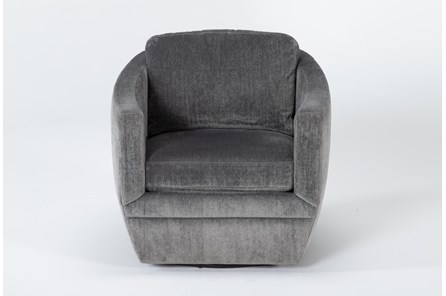 Chadwick Charcoal Swivel Accent Chair - Main