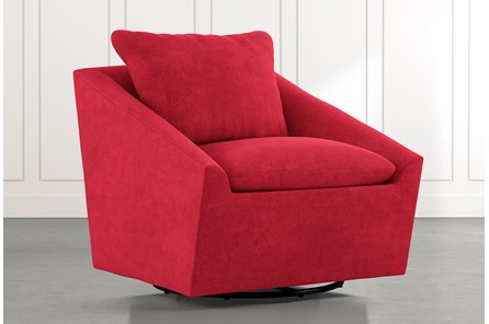 Cypress II Red Swivel Accent Chair