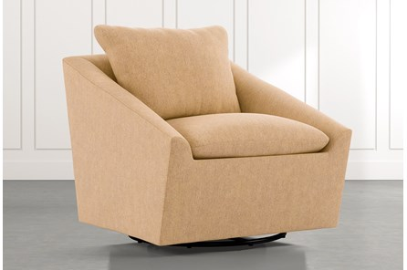 Cypress II Yellow Swivel Accent Chair