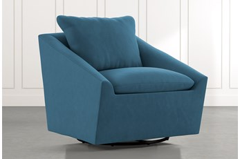 Cypress II Teal Swivel Accent Chair