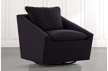 Cypress II Black Swivel Accent Chair