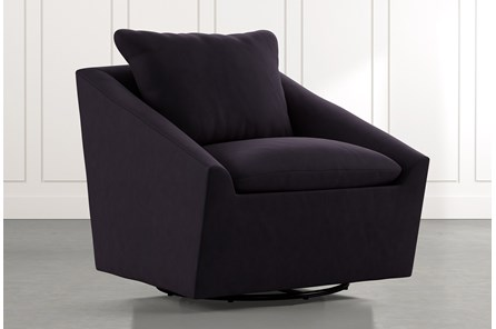 Cypress II Black Swivel Accent Chair