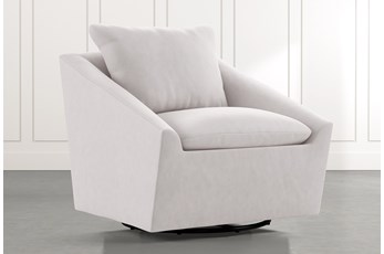 Cypress II Light Grey Swivel Accent Chair