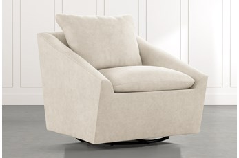 Cypress II Beige Swivel Accent Chair