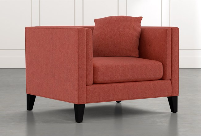 Avery II Red Arm Chair - 360
