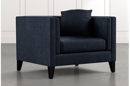 Avery II Navy Blue Arm Chair