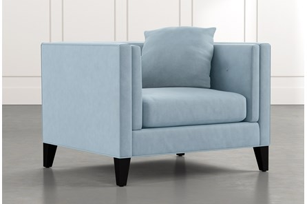 Avery II Light Blue Arm Chair