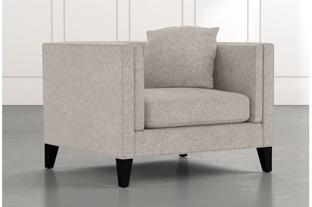 Avery II Light Grey Arm Chair