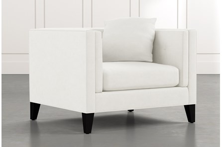 Avery II White Arm Chair