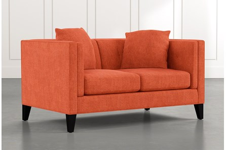 Avery II Orange Loveseat