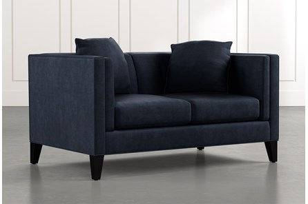 Avery II Navy Blue Loveseat