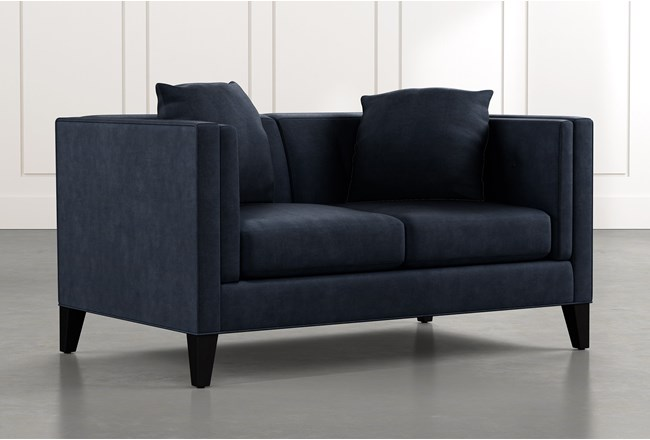 Avery II Navy Blue Loveseat - 360