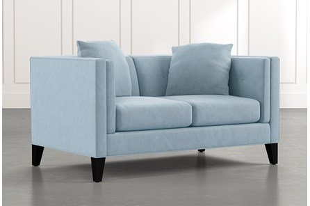 Avery II Light Blue Loveseat