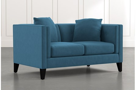 Avery II Teal Loveseat
