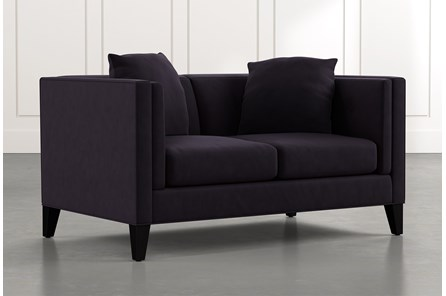 Avery II Black Loveseat
