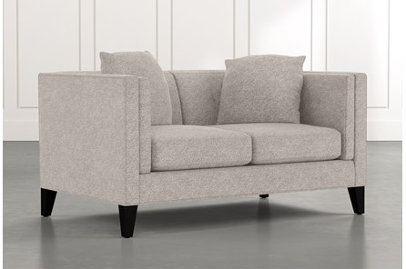 Avery II Light Grey Loveseat