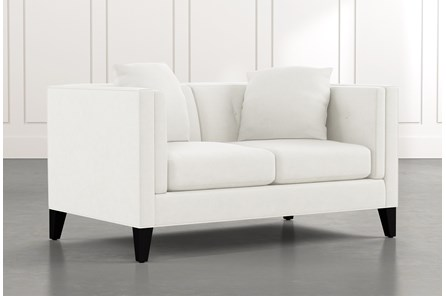 Avery II White Loveseat