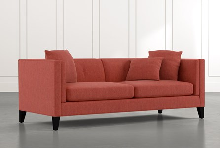 Avery II Red Sofa