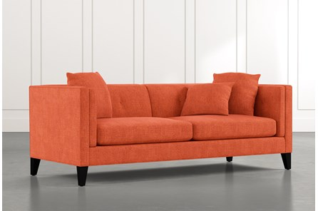 Avery II Orange Sofa