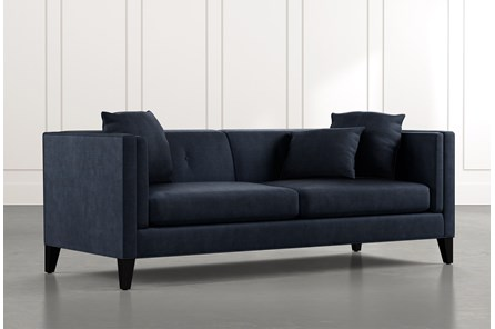Avery II Navy Blue Sofa