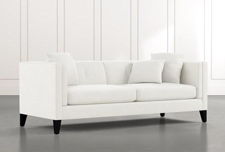 Avery II White Sofa