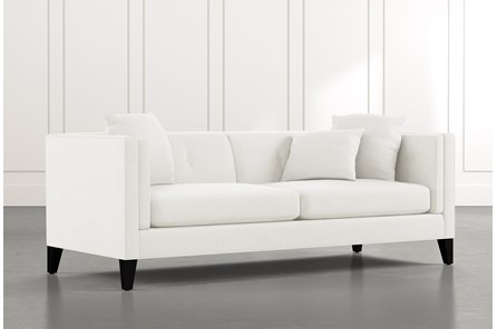 Avery II White Sofa