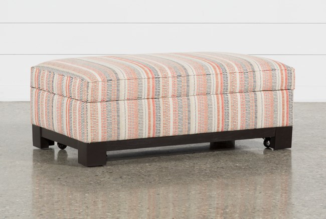 Cypress II Accent Storage Ottoman - 360