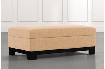 Cypress II Yellow Accent Storage Ottoman