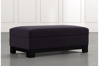 Cypress II Black Accent Storage Ottoman