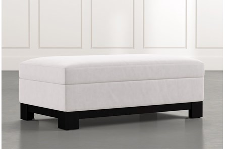 Cypress II Light Grey Accent Storage Ottoman