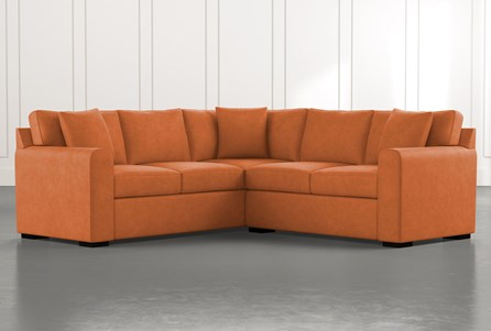Cypress II Orange 2 Piece Sectional