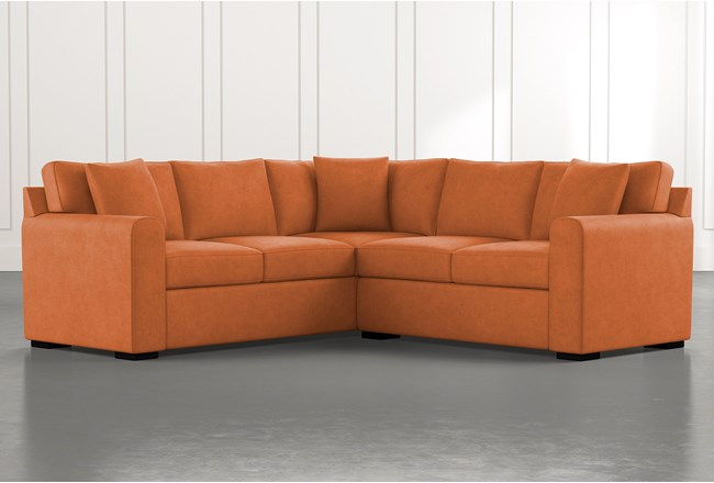 Cypress II Orange 2 Piece Sectional - 360