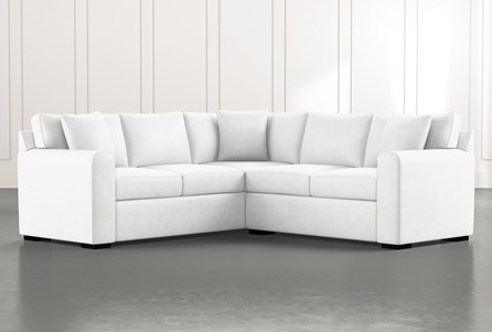 Cypress II White 2 Piece Sectional