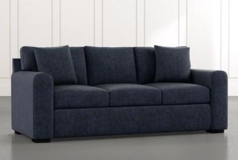"""Cypress II 83"""" Navy Blue Sofa"""