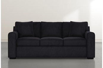 "Cypress II Foam 83"" Dark Grey Velvet Sofa"
