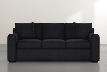 """Cypress II Foam 83"""" Dark Grey Velvet Sofa"""