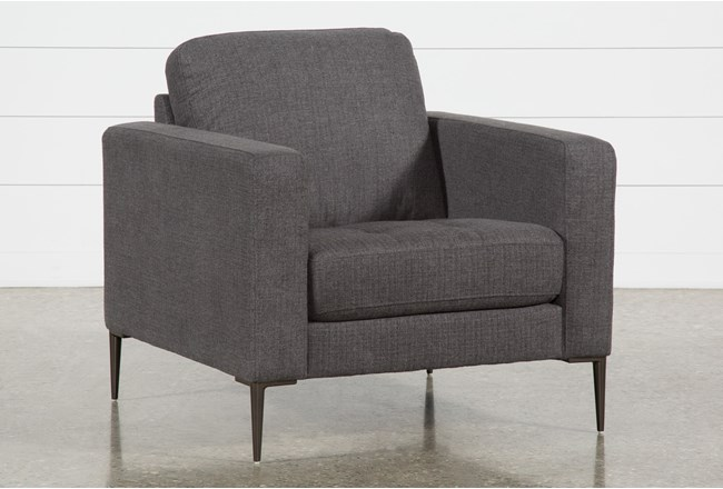 Aaron Charcoal Chair - 360
