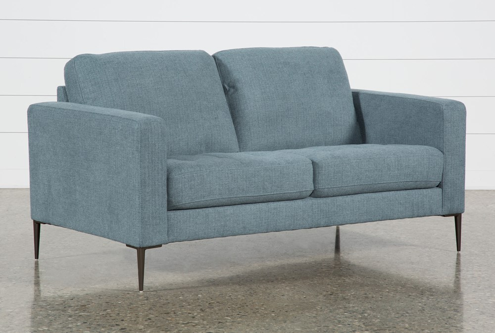 Aaron Steel Blue Loveseat