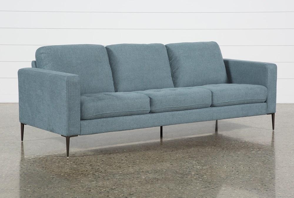Aaron Steel Blue Sofa