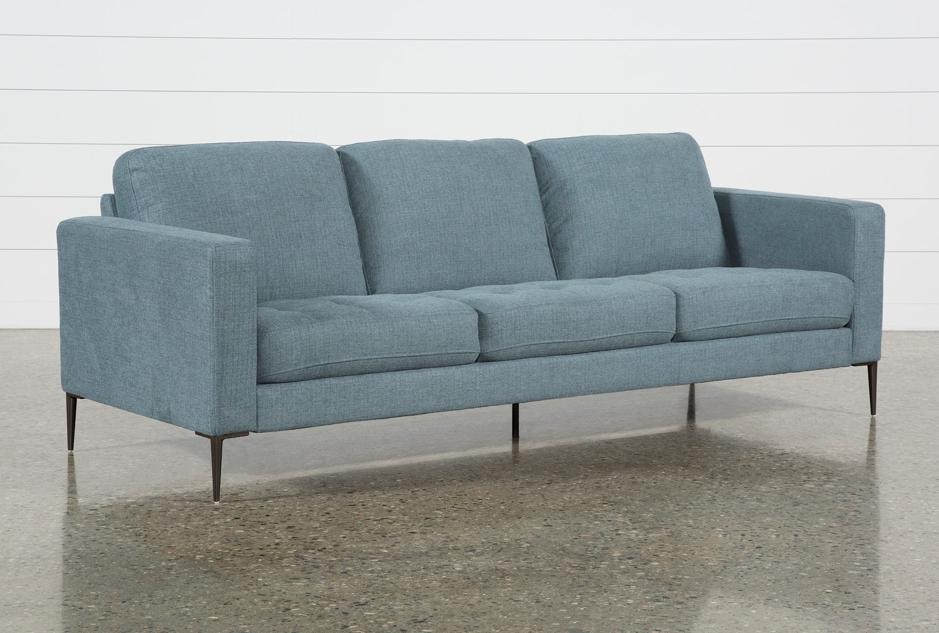 Peachy Aaron Steel Blue Sofa Pabps2019 Chair Design Images Pabps2019Com