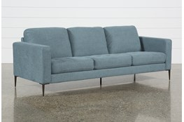 "Aaron Steel Blue 88"" Sofa"