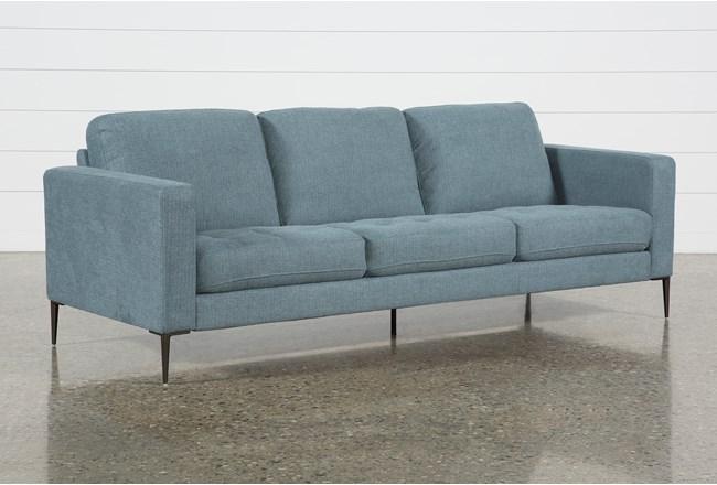 Aaron Steel Blue Sofa - 360