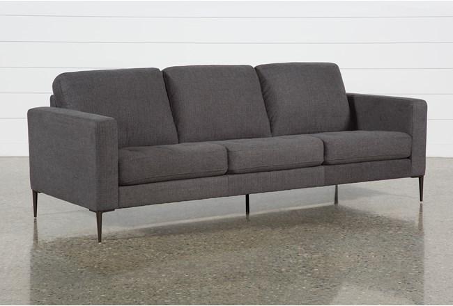 Aaron Charcoal Sofa - 360